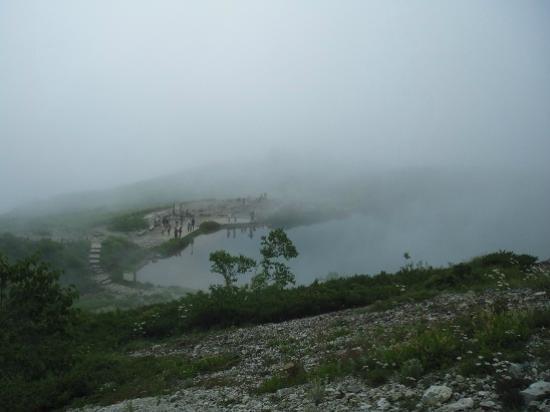 Happoone: 霧に包まれた八方池 