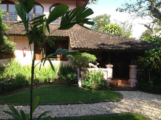 La Taverna Suites: Vue de notre chambre avec son petit jardin privatif