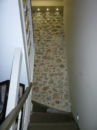 Althaia Pension: the stairs to the second floor