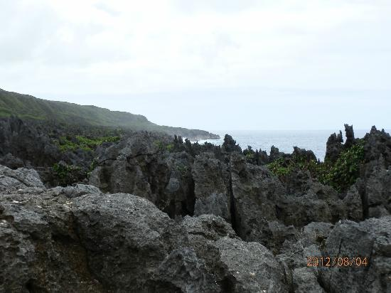 Togo chasm: view from walk to chasm