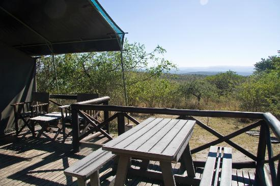 Mpila Camp: Safari Tent Deck with View