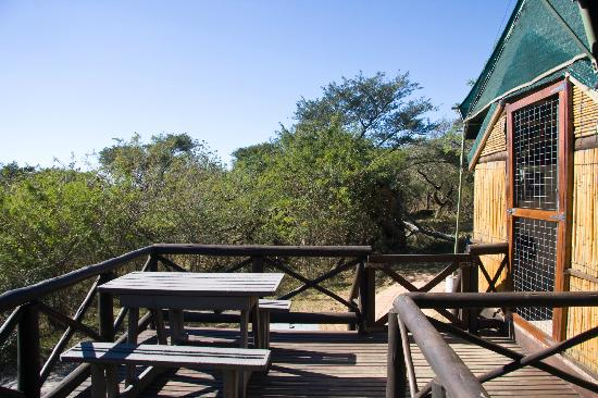 Mpila Camp: Safari Tent Deck