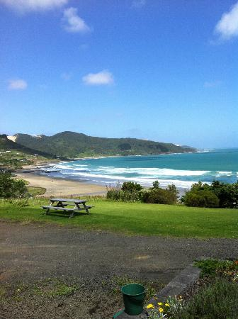 Ahipara Bay Motel: View from our door