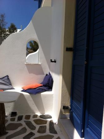 Hotel Galini & Sofia Latina: angolo preferito della terrazza della nostra stanza vista mare!