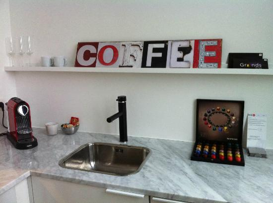 Kaai 11: Selection of Nespresso coffee available in the kitchen