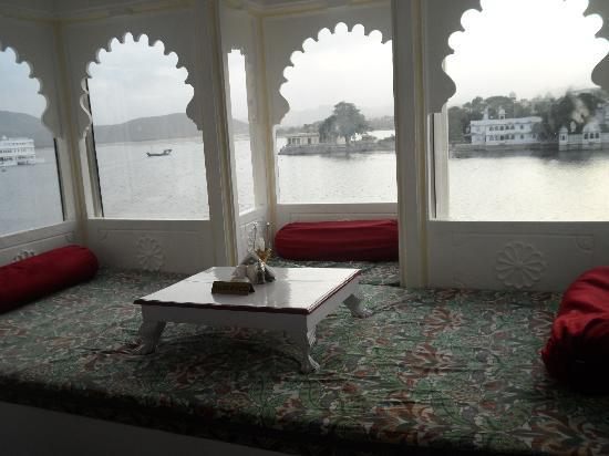 Jagat Niwas Palace Hotel: view from restaurant