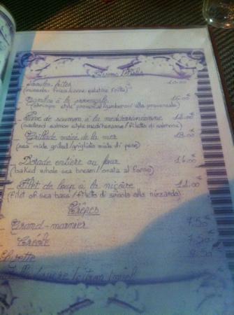 Restaurant Cardillo's: Poissons et... crêpes ??