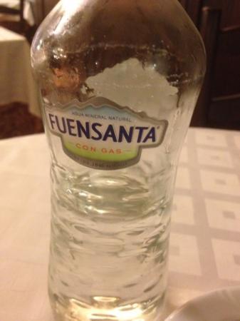 Restaurante La Solera : L'eau minérale gazeuse