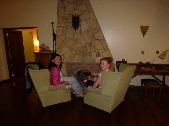 Neptune Ngorongoro Luxury Lodge : Un petit feu pour nous réchauffer !