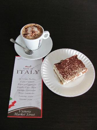 taste of italy: Cepuccino and tiramissu