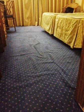 Hotel Las Piramides: Moqueta... para matarse!!