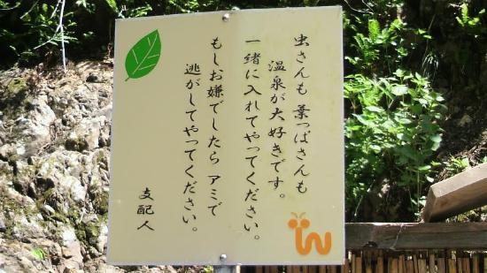 Hotel Ogawa: 露天風呂看板