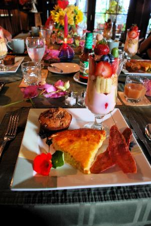 Annville Inn: fancy and tasty breakfast
