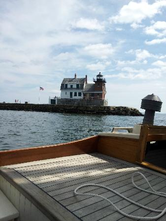Rockland Sailing Co. : Rockland's Breakwater Lighthouse from the Anna R
