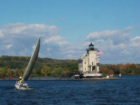 Rondout Light House with Kingston Sailing Club