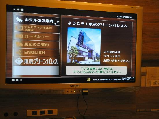 Tokyo Green Palace: 客室テレビ