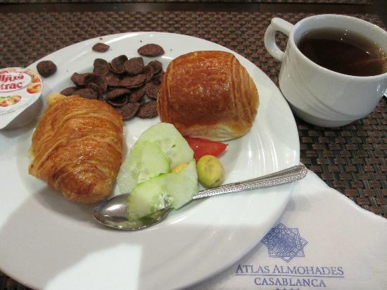 Atlas Les Almohades Casablanca: 朝食