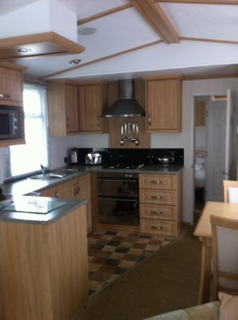 Rockhill Holiday Park Kitchen In 2 Bed Mobile Home