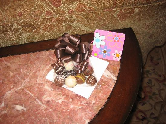 Bella Rose Bed and Breakfast: Card and Chocolates from Renee and Chris