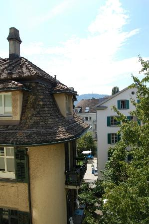 Plattenhof Hotel: View from our room--including Uetliberg!