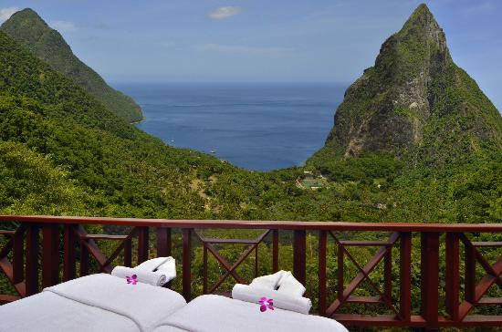 Ladera Resort: View from New Honeymoon Villa at Paradise Ridge