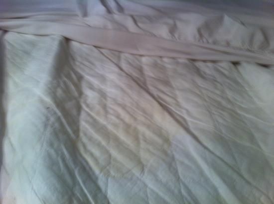 Brownes hotel: Stains on bed linen