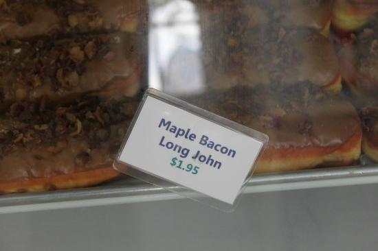 My Maple Bacon Long John - Picture of Blue Dot Donut's, New Orleans ...