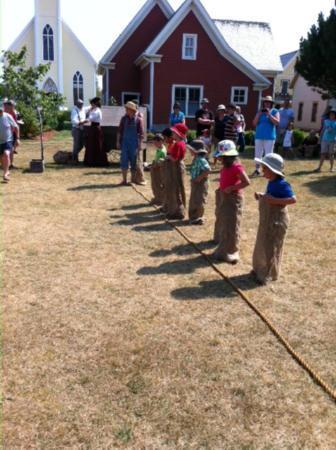 Avonlea Village: Potato sac races