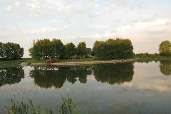 Mission Oak Inn, seen across the lake