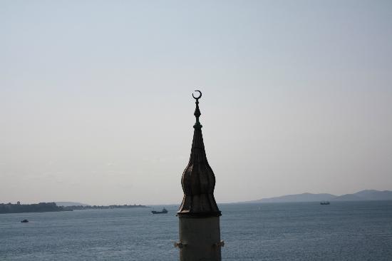 Blue Tuana Hotel: panorama dalla terrazza con relativo minareto 