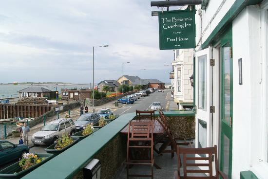 Britannia Inn: Viw from the dining room balcony