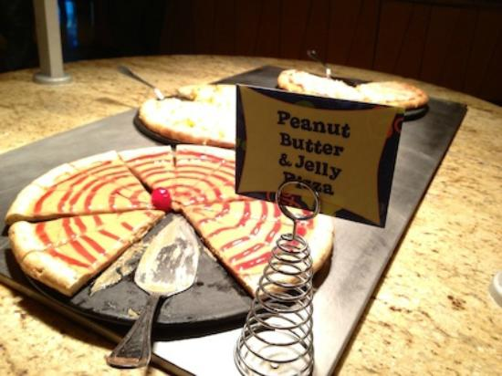 Peanut Butter & Jelly Pizza! - Picture of Goofy\'s Kitchen, Anaheim ...