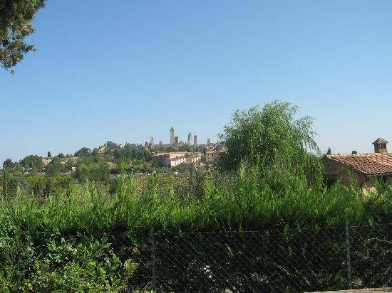 Locanda Viani: view of san gimignano from the locanda