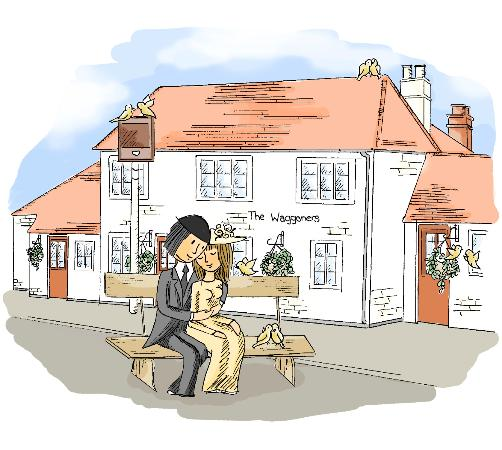 The Waggoners: romantic restaurant
