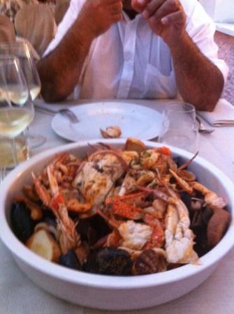 Ristorante Plinioriviera: zuppa di pesce e crostacei