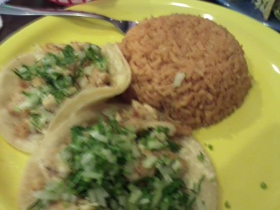 Taco Rico: chicken tacos dinner