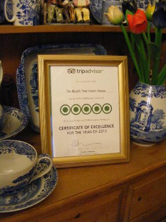 The Beech Tree Guest House: Trip Advisor Award