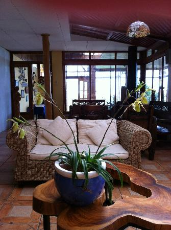 Hotel Guayabo Lodge : Zithoek in de Guyabo lodge