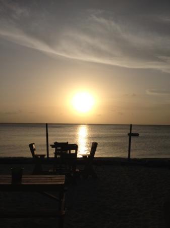sunset at bourbon beach