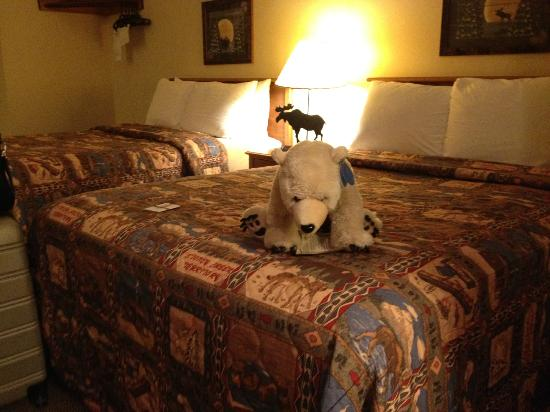 Stoney Creek Inn - Quincy: Even a friendly 'bear' greets you (or a moose second trip)!