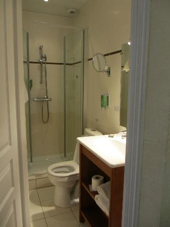 Hotel Albert 1er: The tiny bathroom