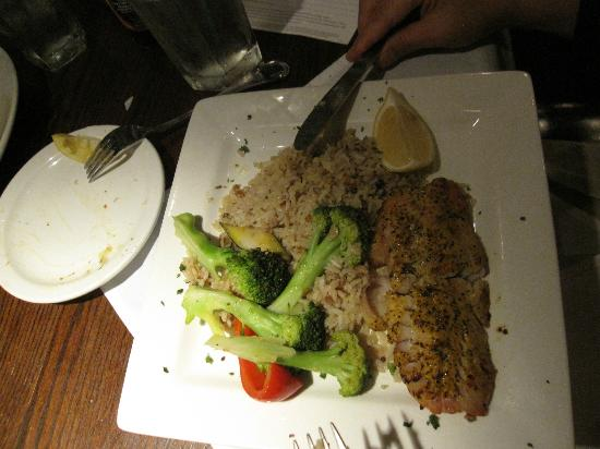 the fish house: talapia with rice pilaf