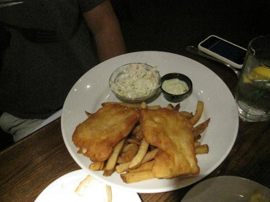 the fish house: fish and chips and slaw