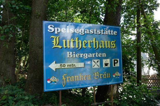 Lutherhaus: Lutherhaus sign