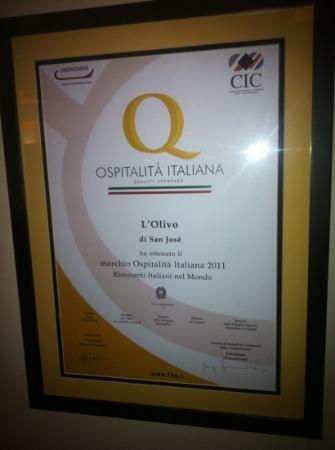 L'Olivo: best Italian in San jose