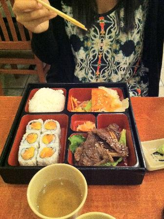 beef ribs bento box picture of sashimi house toronto. Black Bedroom Furniture Sets. Home Design Ideas