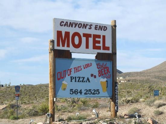 Canyon's End Motel Sign