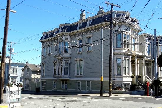 The Parsonage Bed and Breakfast: This is the building from across Laguna & Haight Streets