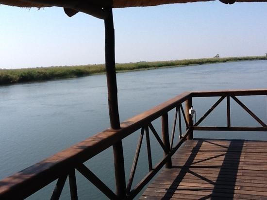 Drotsky's Cabins: view over the Okavango at Drotsky's