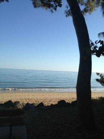 Shelly Bay Resort: Beach immediately across from resort
